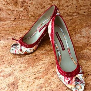 Chinese Laundry Red Peep Toe Wedge